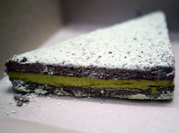 matcha brownie from moba