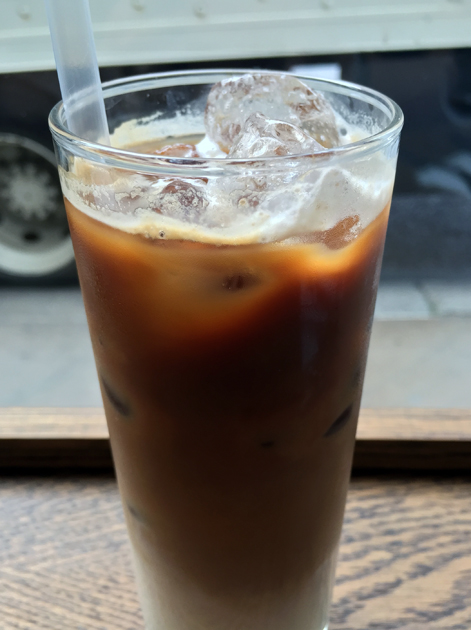 iced Vietnamese coffee at caphe pho