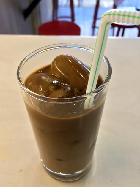 iced Vietnamese coffee at oi hanoi