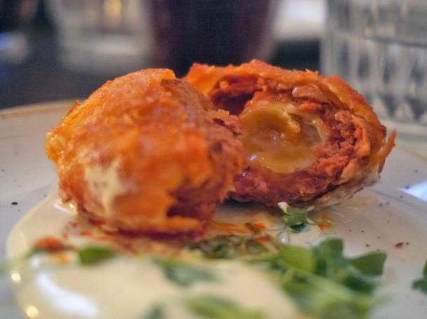 nduja quail scotch eggs at rök