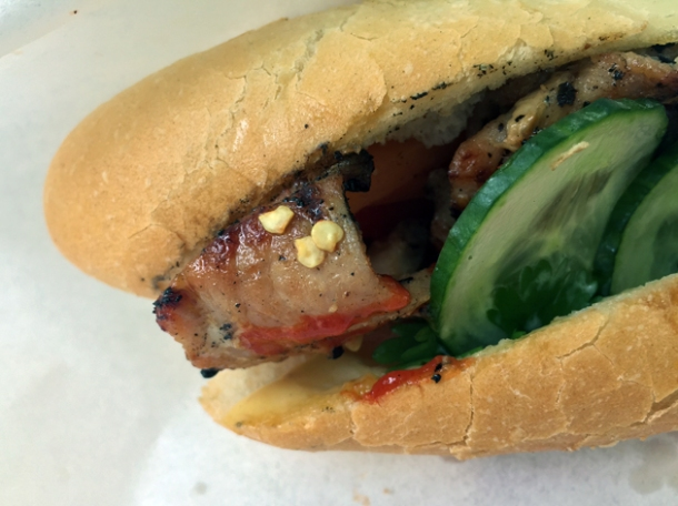 pepper pork loin vietnamese baguette from banh mi bicycle