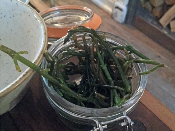 pickled samphire at rök