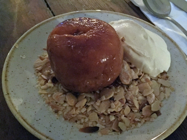 roasted peach pudding at rök