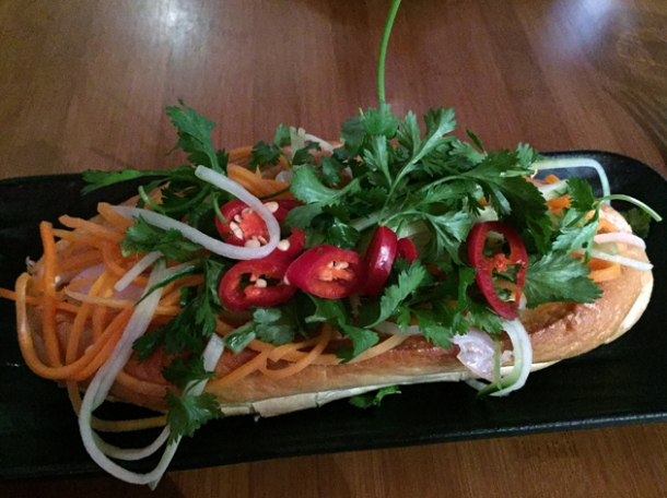seafood banh mi at house of ho