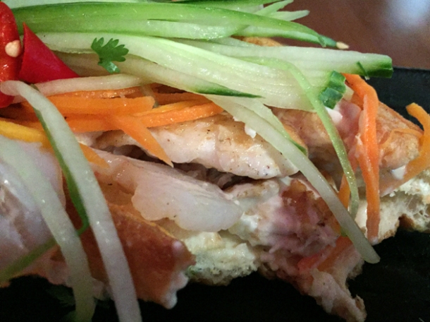 seafood vietnamese baguette at house of ho