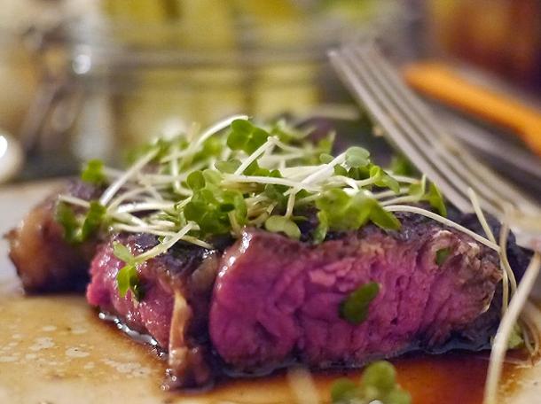 t-bone steak with birch syrup at rök