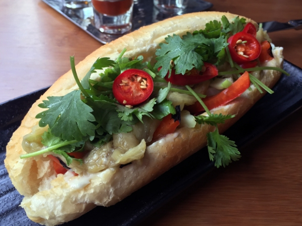 vegetable banh mi at house of ho