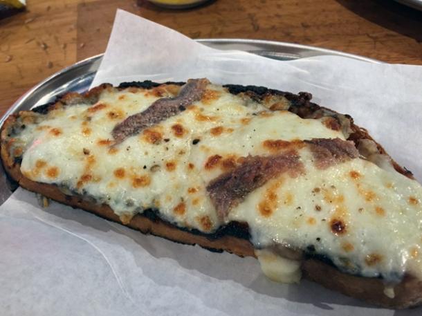 anchovies and mozzarella bruschetta at vico