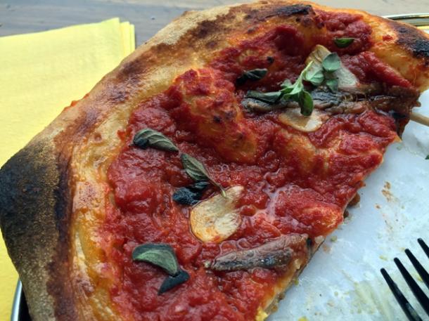 anchovy cheeseless pizza at vico