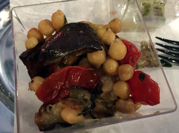 chickpea, aubergine and tomato salad at vico
