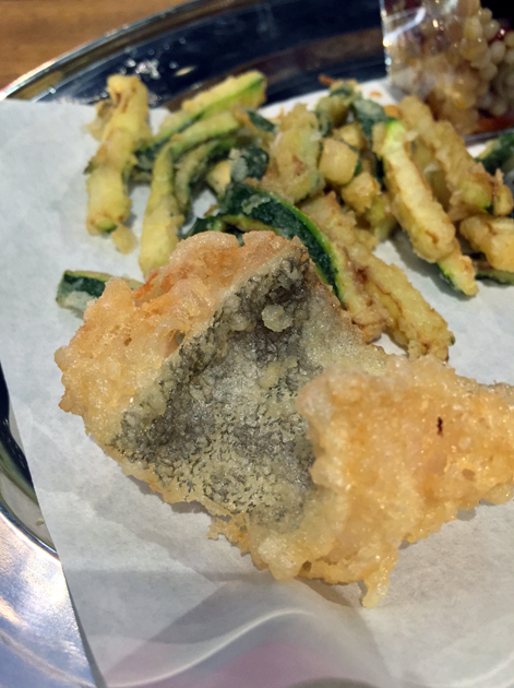deep fried salt cod and courgettes at vico