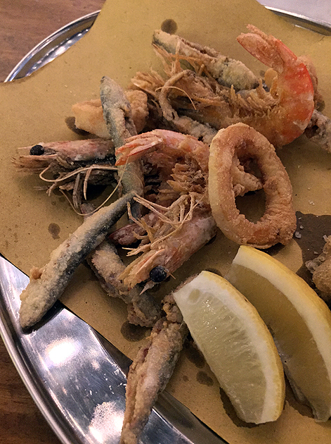 deep fried seafood at vico