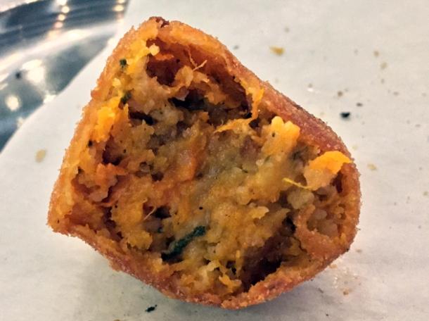 hazelnut and pumpkin polpette at vico