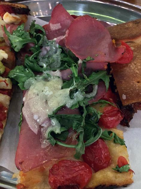 prosciutto and rocket pizza at vico