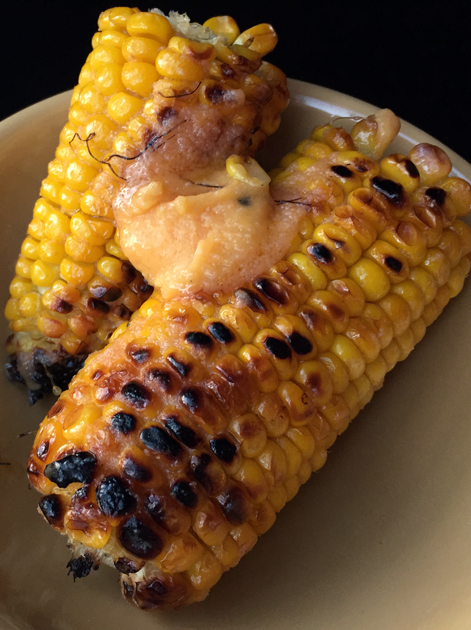 cod roe butter corn on the cob at black axe mangal