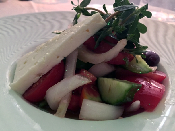 greek salad at milos london