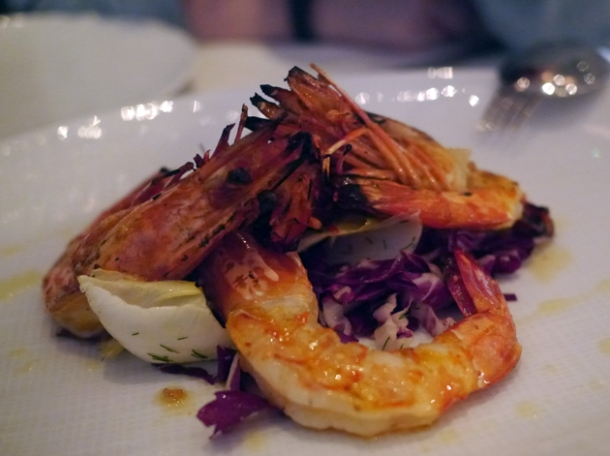madagascan prawns at milos london