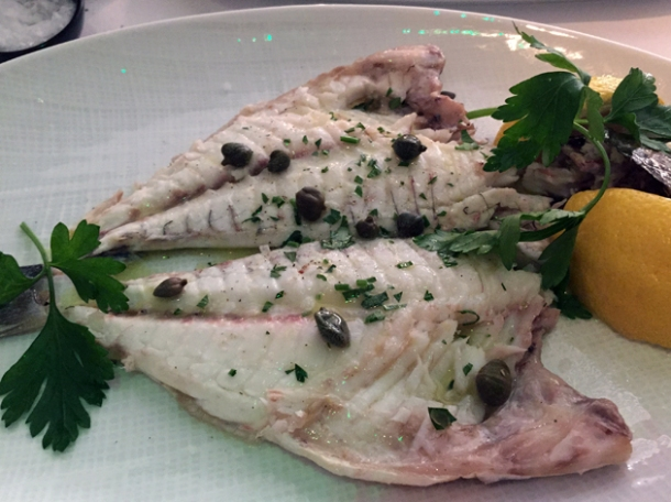 sea bream at milos london