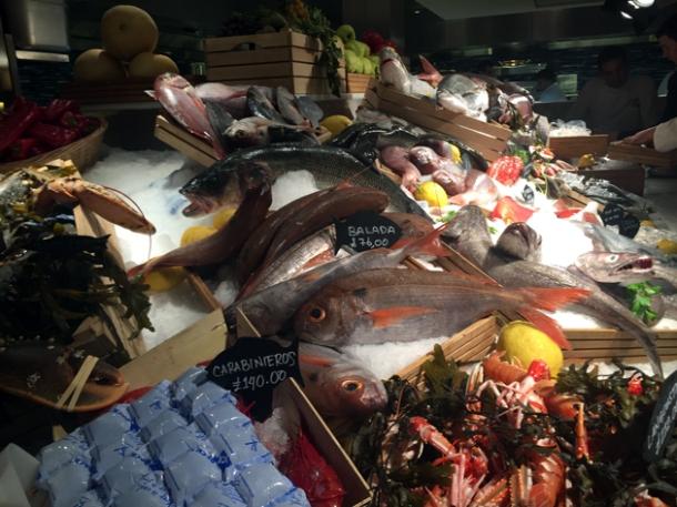 seafood display at milos london