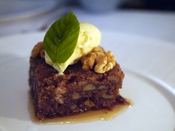 walnut cake at milos london