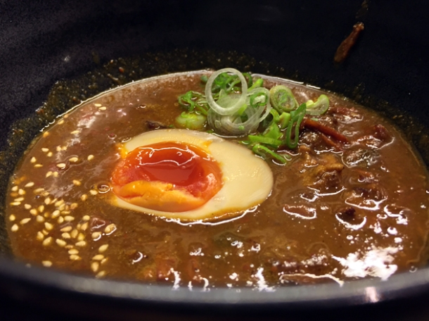 curry goat tsukemen at nanban