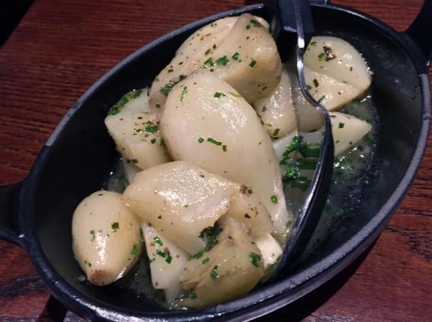artichoke and truffle fricasse at the ninth