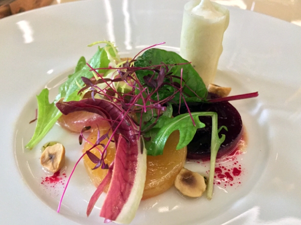 beetroot salad at piquet