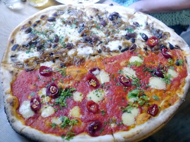 half and half 50-50 20in pizza at homeslice