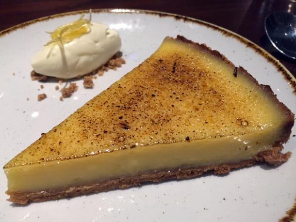 lemon tart at the ninth