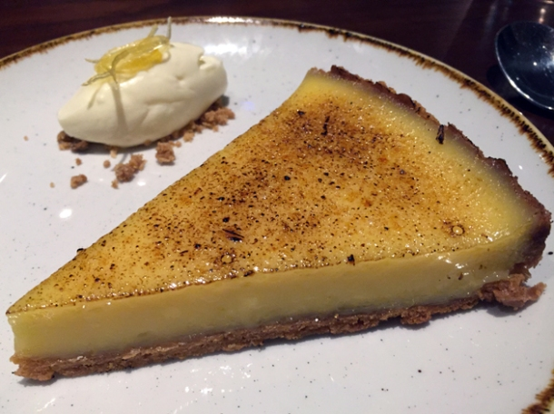 lemon tart at the ninth