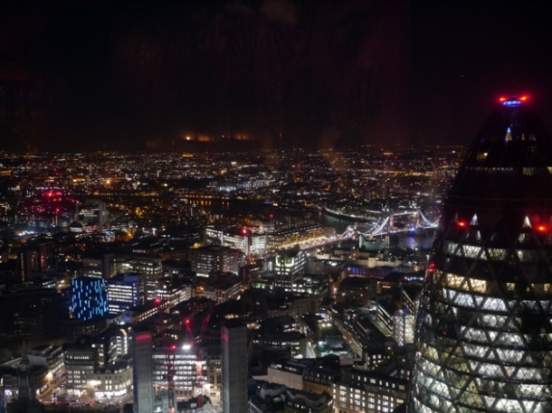 london view sushisamba heron tower