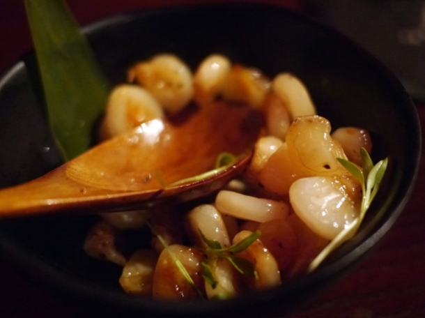peruvian corn at sushisamba london
