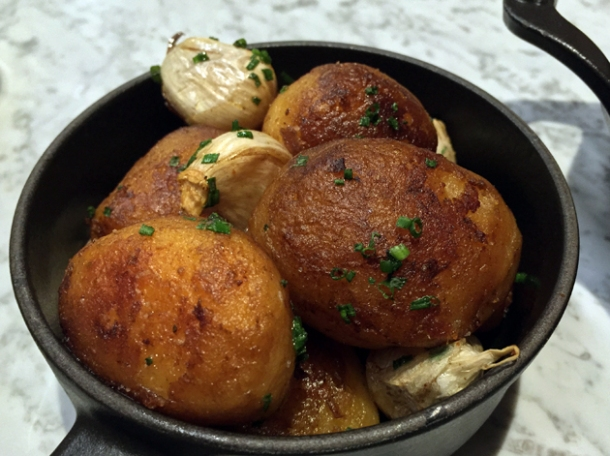 potatoes cocotte with rosemary and confit garlic at the ninth