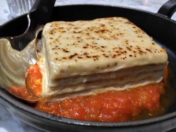 rabbit confit lasagna at the ninth