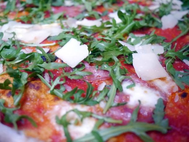 salami pizza at homeslice