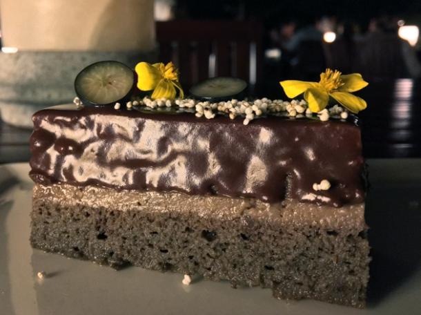 chocolate cake at casa oaxaca