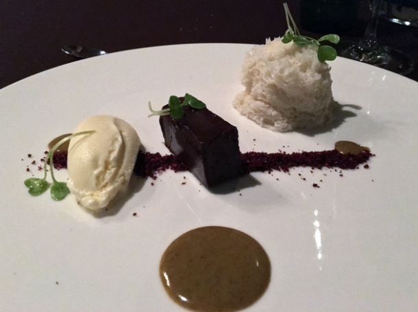 deconstructed chocolate tart at rosas y xoxolate