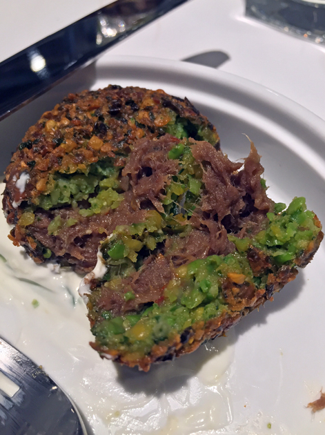 meatlafel beef falafel at le bab london
