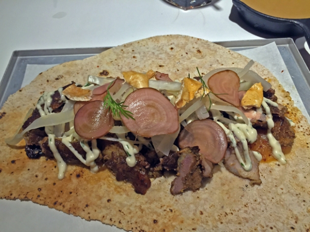 pork shawarma at le bab