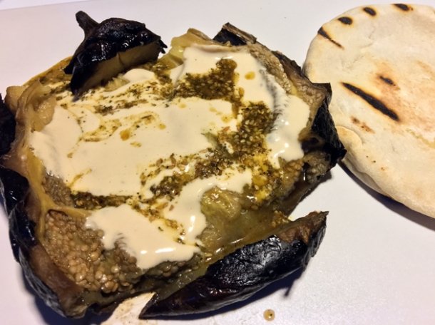 smoked aubergine at nudo negro mexico city