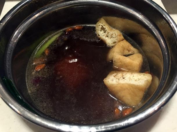tofu in freebird hotpot broth at shuang shuang