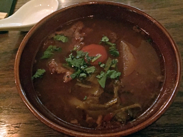 beef soup at mr bao