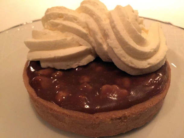 caramelised walnut tart at bellanger