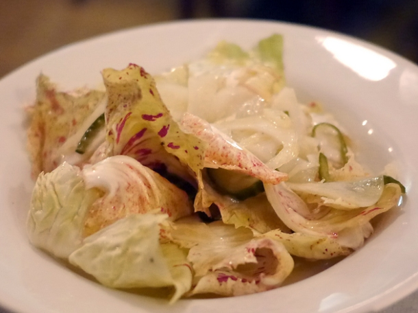 castel franco with pickled fennel and cucumber at hill and szrok pub