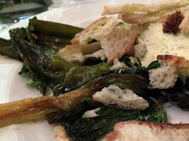 confit leeks at hill and szrok pub