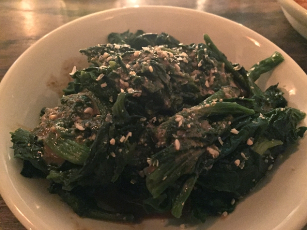 sesame spinach at mr bao