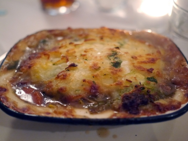 shepherd's pie at hill and szrok pub