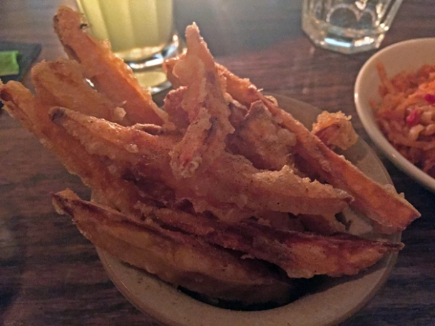 sweet potato chips at mr bao