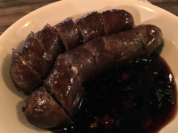 taiwanese sausage at mr bao