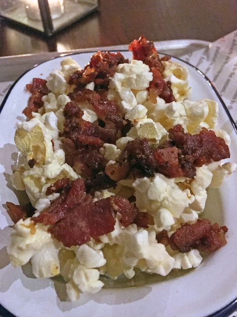 bacon popcorn at low slow and juke